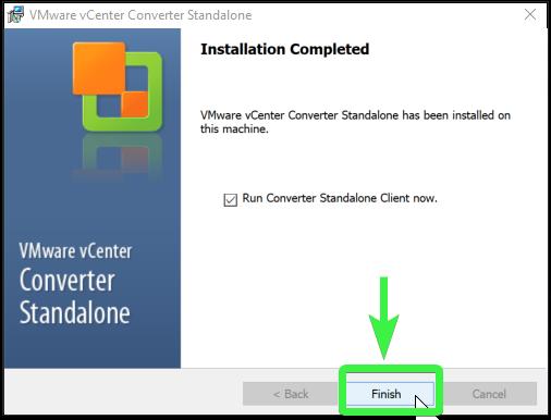 VMware vCenter Converter Standalone setup 9/9