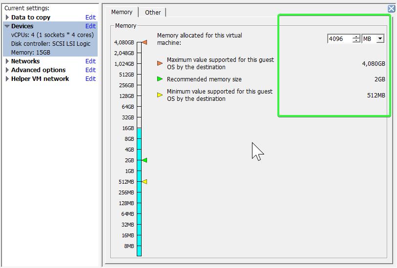 Advanced Configuration Options - Memory