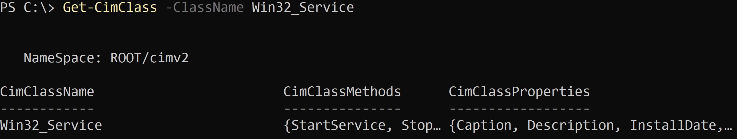 Get Cimclass Parameter