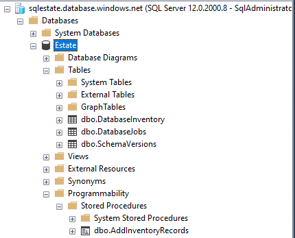 pipeline has created the DatabaseJobs table