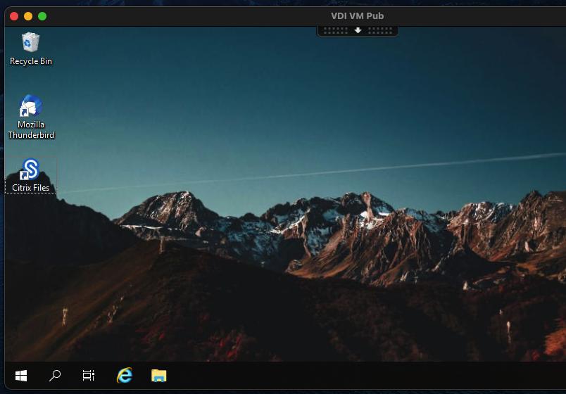 Viewing a Citrix Desktop