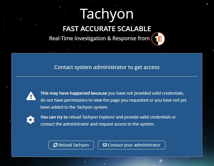 No access to a Tachyon application