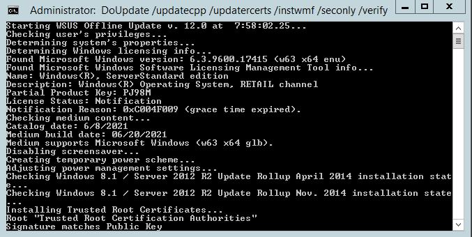 WSUS Offline Update working it's magic
