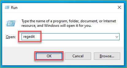 Opening the Registry Editor