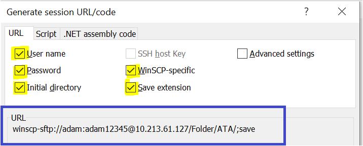 Generate Session URL/Code.