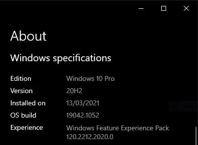 Viewing Windows OS Information via Windows Settings