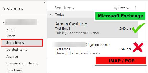 Accessing Sent Items Folder