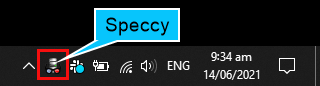 Active Speccy in System Tray
