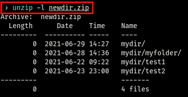 Viewing zip contents without decompressing