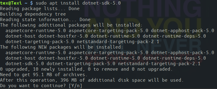 Installing the latest .Net SDK on Ubuntu