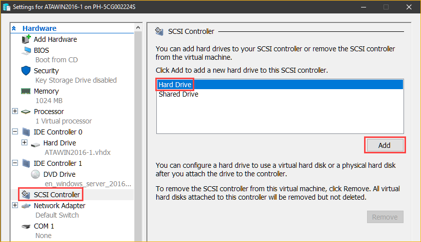 Adding a SCSI hard Drive