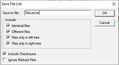 Save file list dialog box.