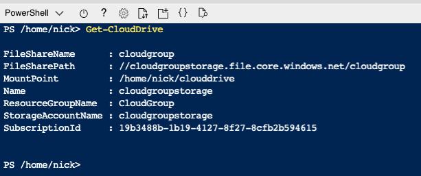 Getting clouddrive Information
