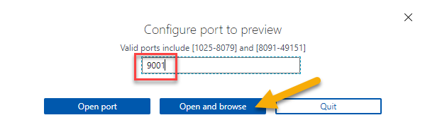 Add port and then Open and Browse