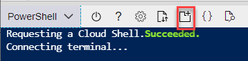 Creating a new Cloud Shell session