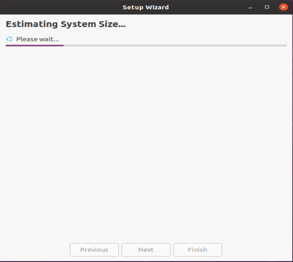 Estimating the system size