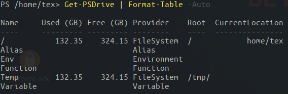 Get-PSDrive command on PowerShell Core