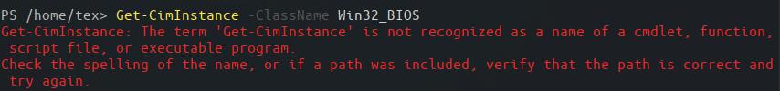 Retrieving BIOS information via CIM on PowerShell Core on Linux