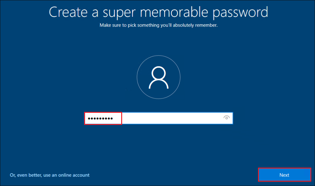 Displaying password column