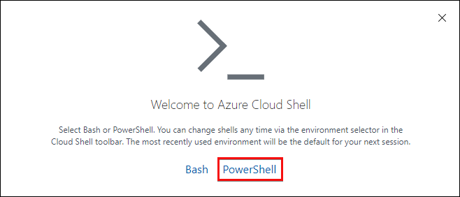 Starting up of Cloud Shell