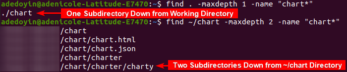 Finding Files Limited to the Current and Subdirectory
