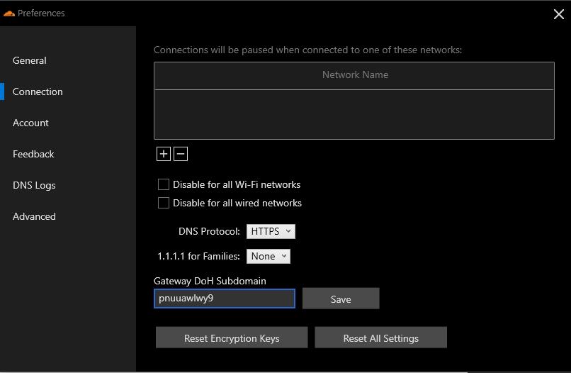Configuring the Gateway DoH Subdomain.