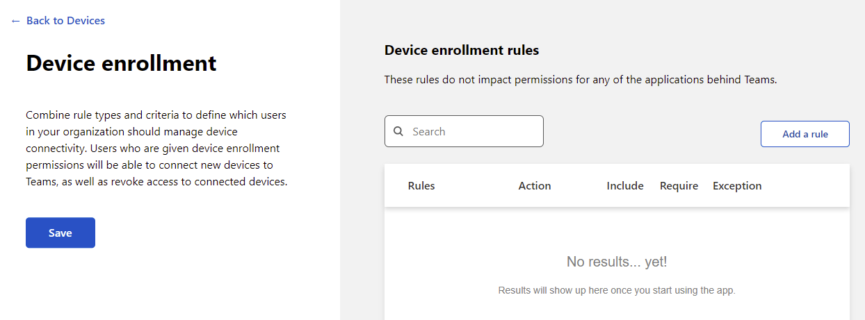 Creating a new Device Enrollment policy.