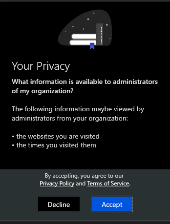 Privacy agreement.