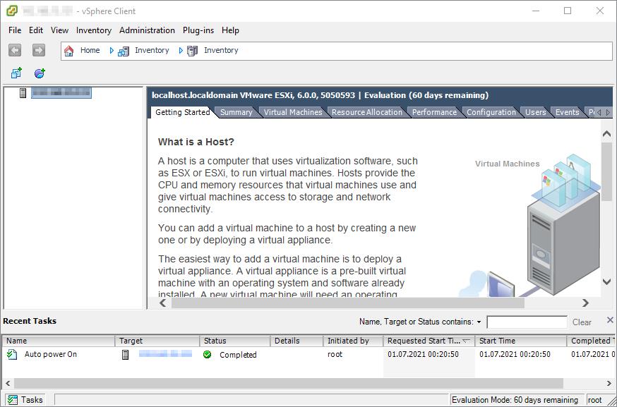 vSphere Management UI Version 6.0