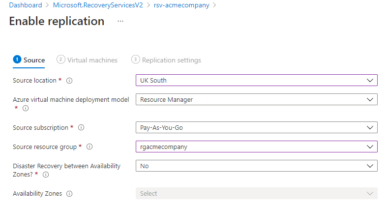 Configuration Options for enabling replication