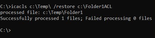 Restoring folder permissions
