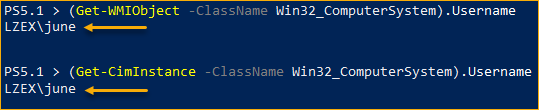 Querying WMI in PowerShell to Get Current User