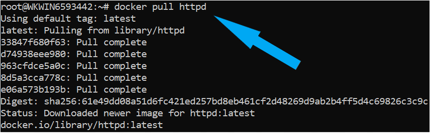Pulling the Apache image from Docker Hub