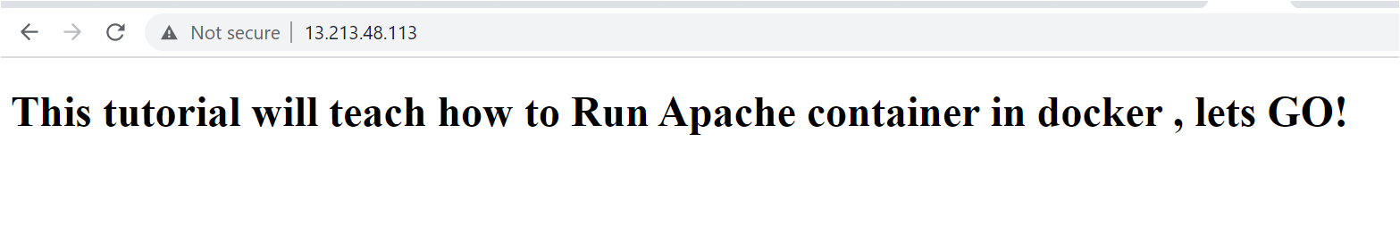 verify if you can access the Apache web interface