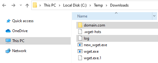 Viewing Downloaded File and Log File