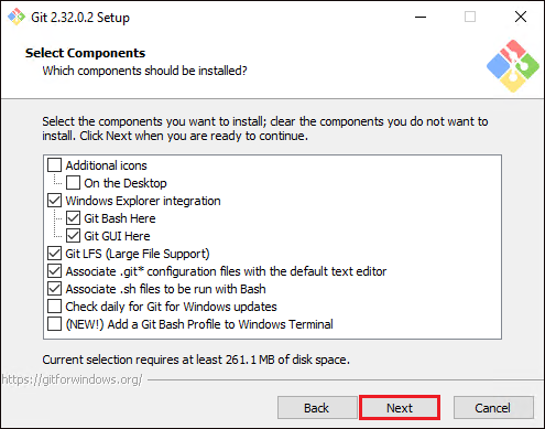 Selecting Additional Components To Install