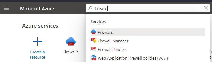 Using global search to set up Firewall