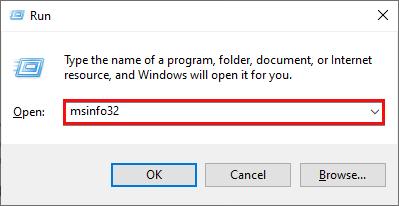Launching Windows System Information via Run Command