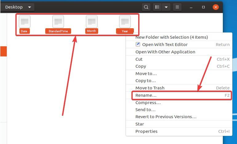 Renaming Multiple Files Using Nautilus.