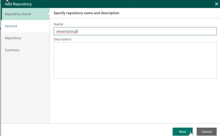 Providing a name and description for the repository