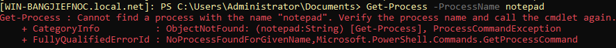 Checking for Notepad as a running process