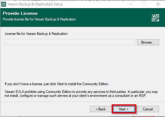 Providing Your Veeam License File