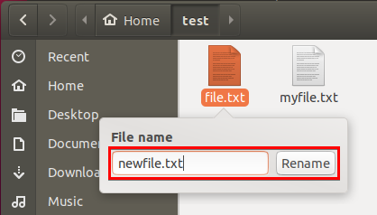 Entering New File Name