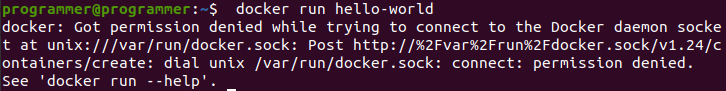 Running into a permission denied error