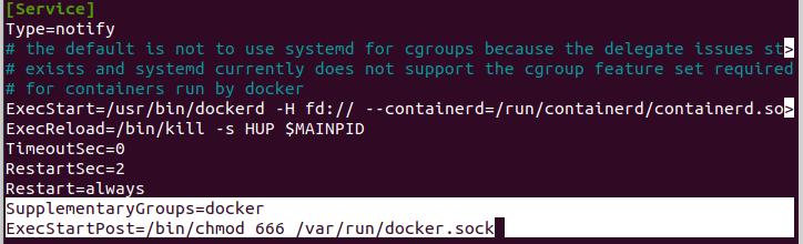 Editing the Docker Service Unit File