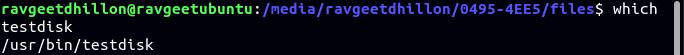 Verifying if TestDisk is Already Installed