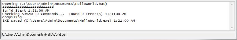 Converting batch file