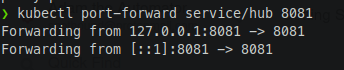 Forwarding ports from the cluster to your localhost