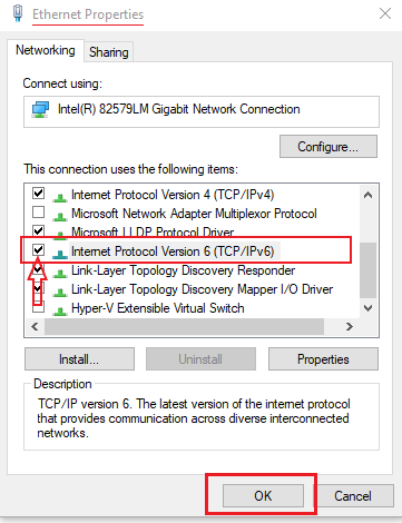 Disabling IPv6 from your Ethernet card.