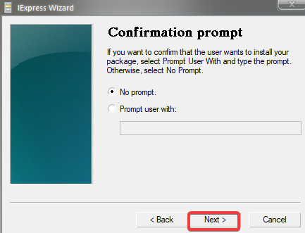Adding Confirmation Prompt